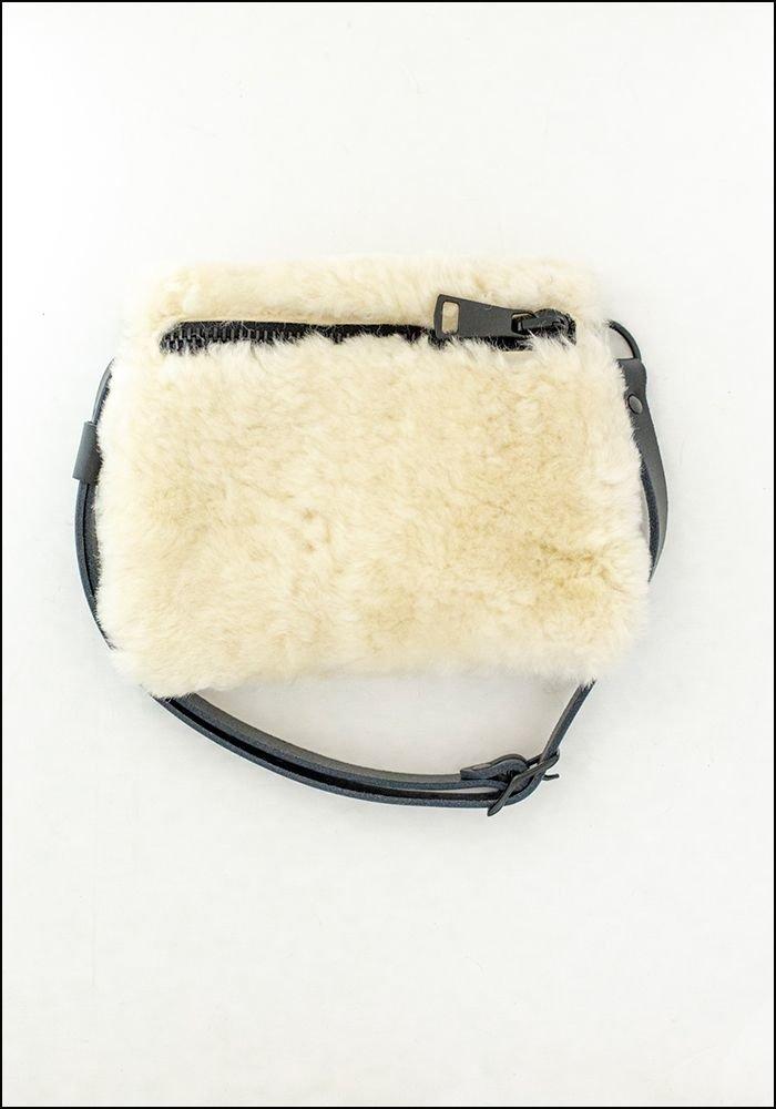 Your Bag of Holding Natural Shearling Belt Bag