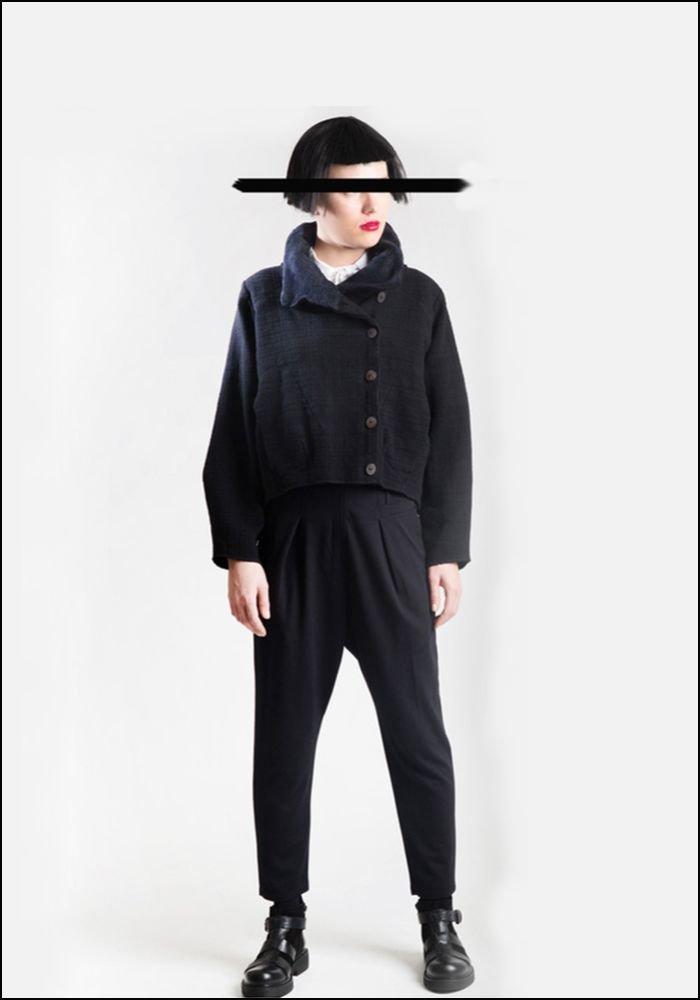 Lurdes Bergada Cropped Wool Blend Boxy Jacket