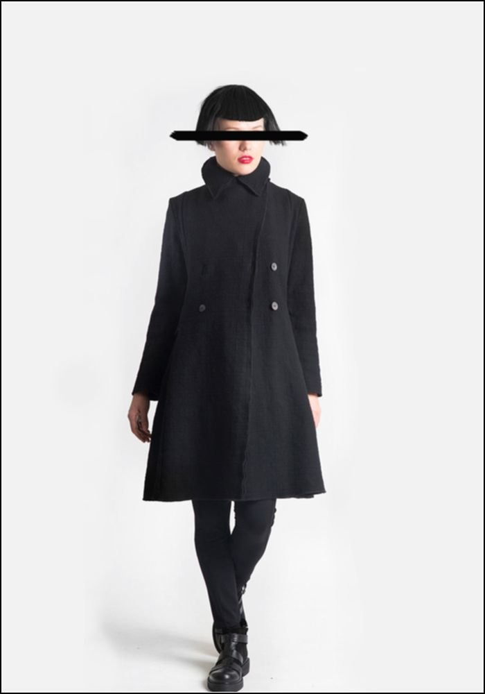 Lurdes Bergada Wool Blend Long Coat