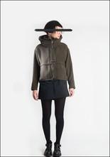 Lurdes Bergada Cropped Fleece Lined Hooded Bomber