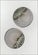 Demetria Chappo Sgraffito Half Moon Bowl