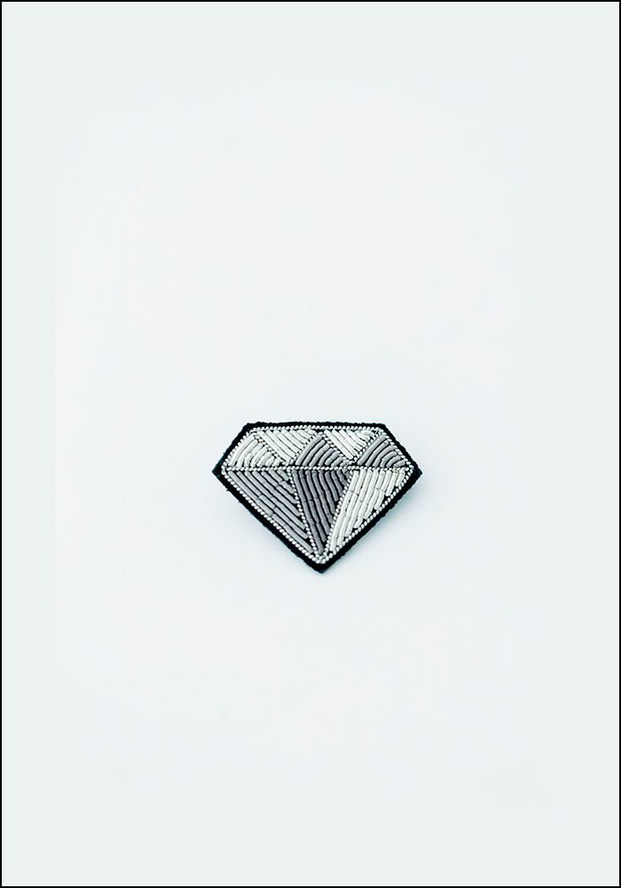 Macon and Lesquoy Diamond Embroidered Pin