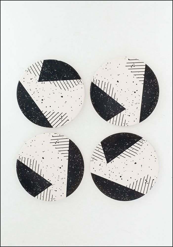 Tramake Tramake Abstract Ceramic Coasters