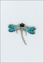 Narratives Mint Green Crystal Dragonfly Pin