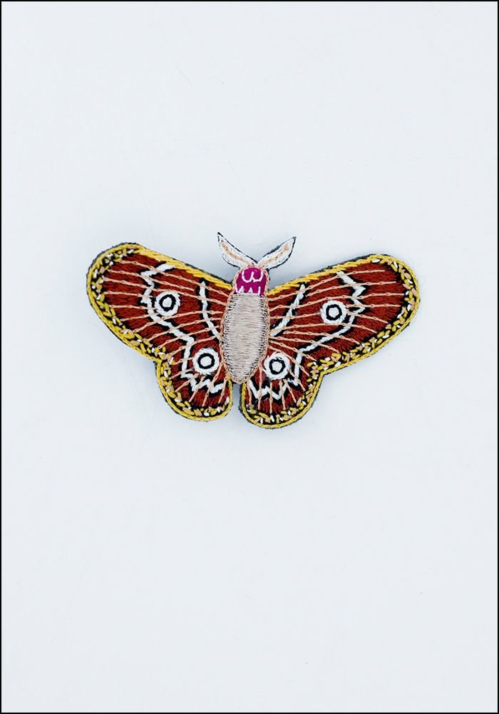 Narratives Bright Moth Embroidered Pin