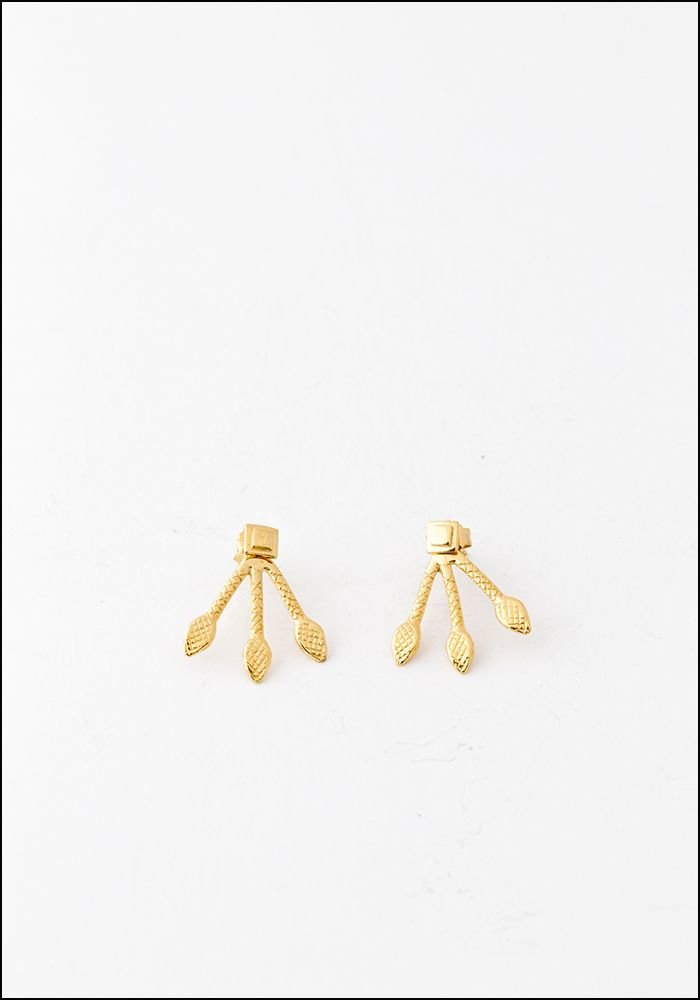 Avocet Gold Diamond Back Gold Earrings