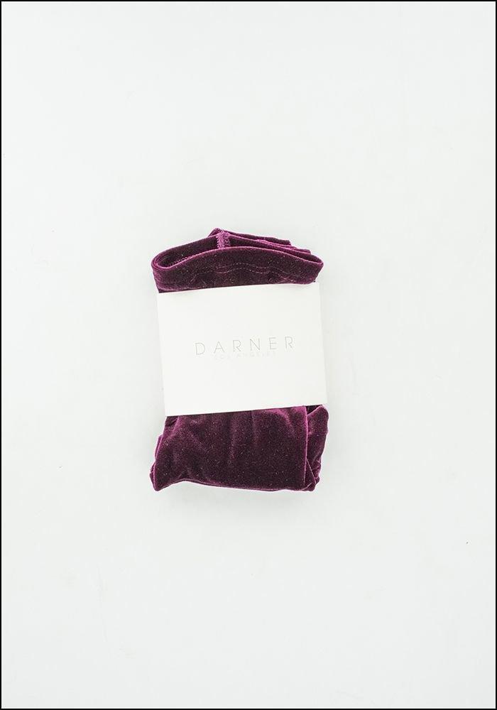 Darner Darner Purple Velvet Socks