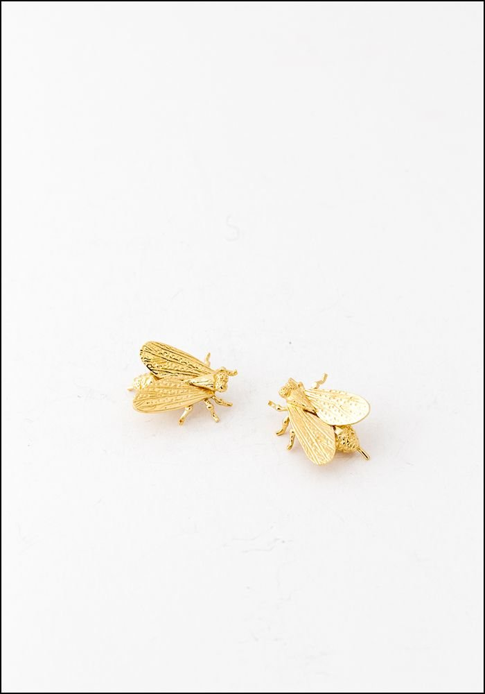 Avocet Gold Fly Ear Climbers