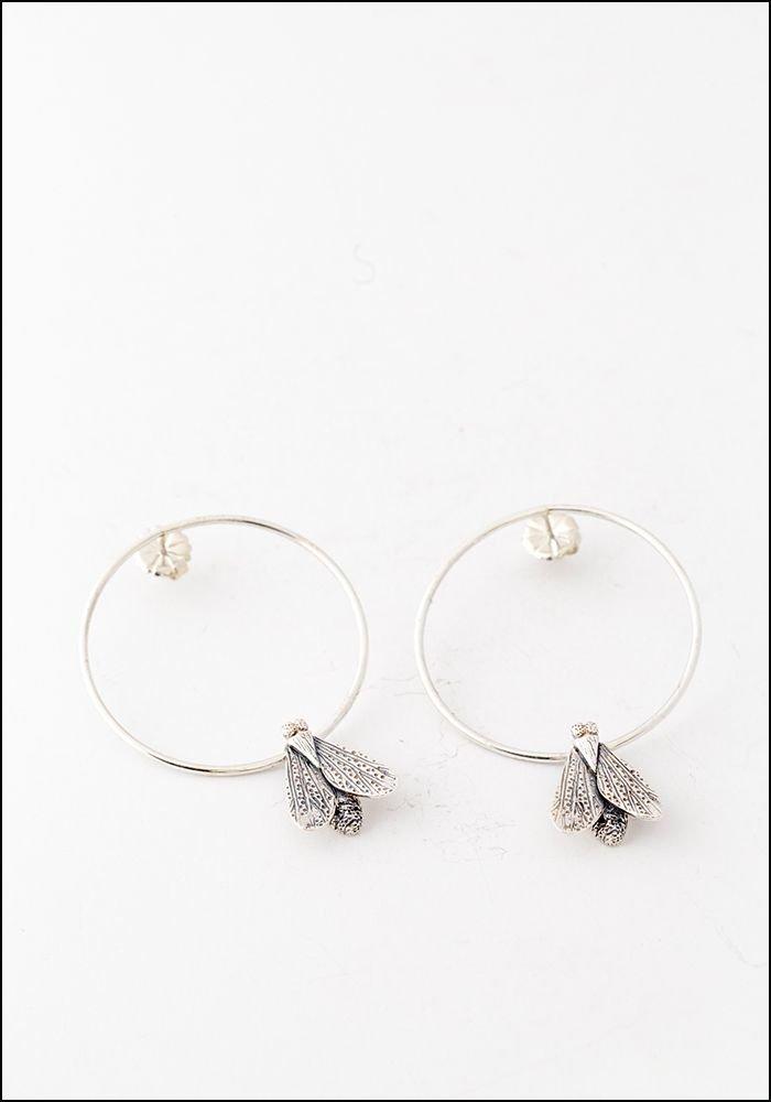 Avocet Silver Moth Hoops
