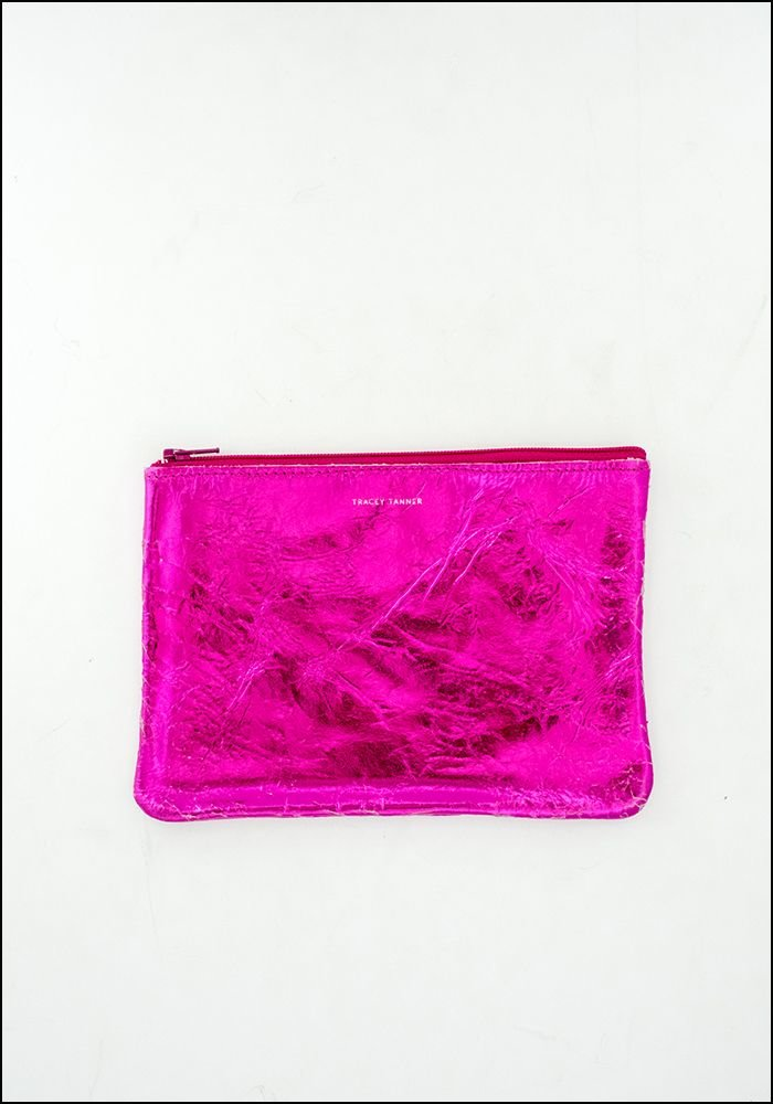 Tracy Tanner Tracy Tanner Hot Pink Leather Pouch