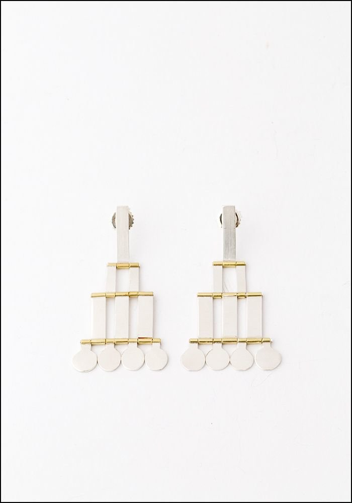 Hannah K Hannah Keefe Silver Brass Droplet Earrings