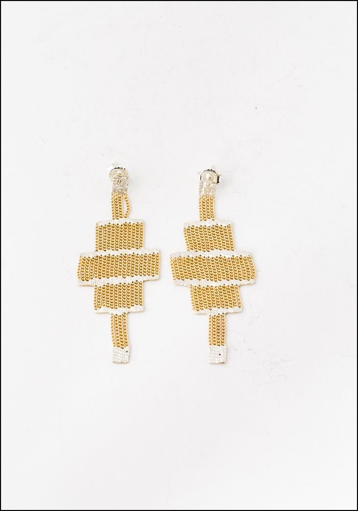 Hannah K Hannah Keefe Brass Stacked Earrings