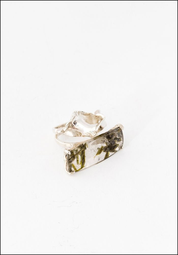 Tego Tego Silver Tourmaline Ring