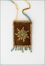 Olivia Dar Sun Leather Talisman Pouch