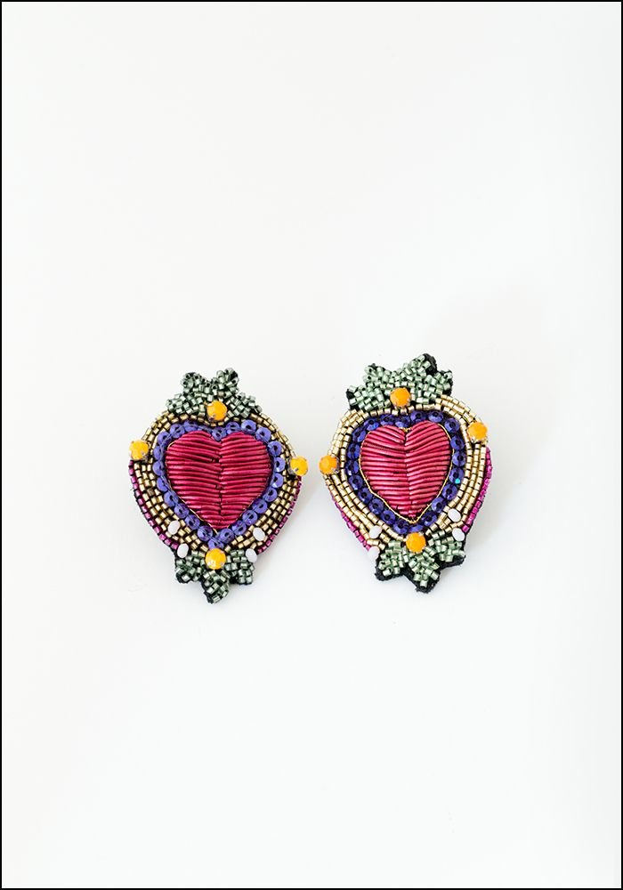Olivia Dar Olivia Dar Talisman Heart Earrings