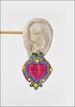 Olivia Dar Olivia Dar Talisman Heart Earrings