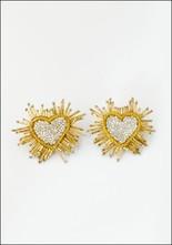 Olivia Dar Olivia Dar Silver Sparkle Heart Earrings