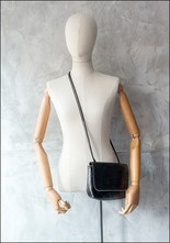 Amorphose Amorphose Zipper Detail Leather Shoulder Bag