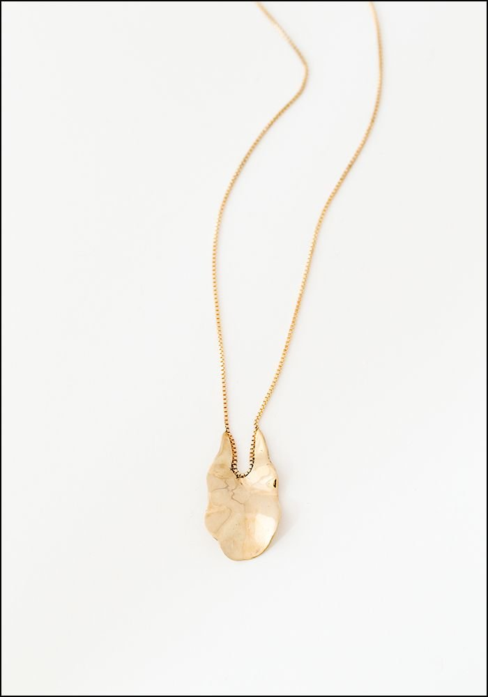 Faeber Faeber Organic Pendant and Boxchain Necklace