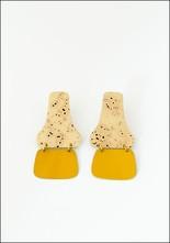 Sibilia Brass Saffron Hinge Earrings