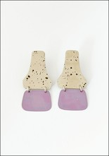 Sibilia Brass Lavender Hinge Earrings