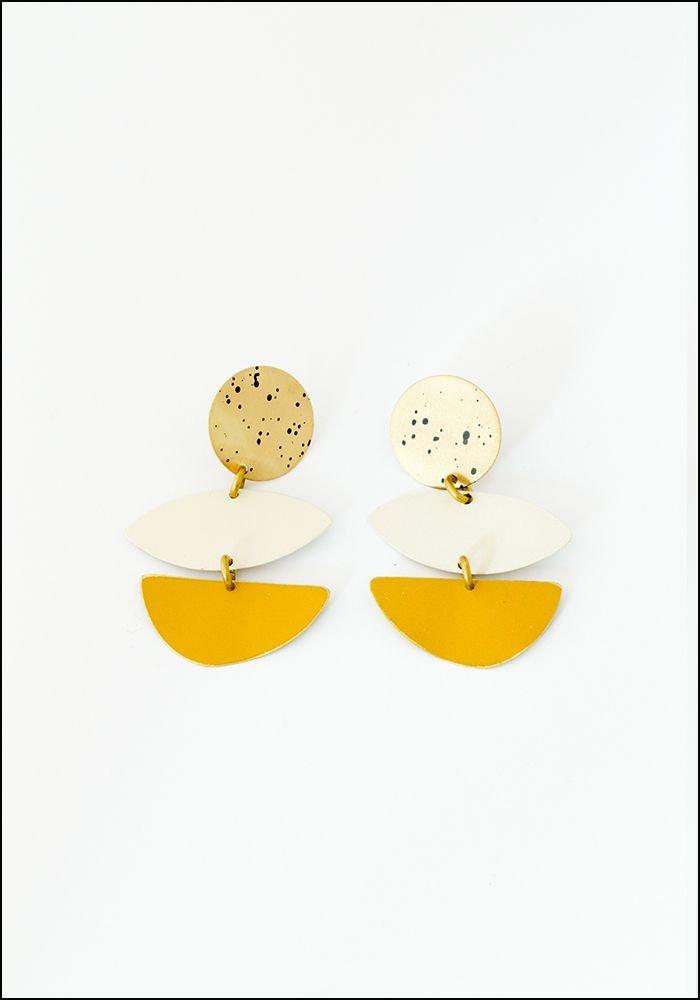 Sibilia Cream Rockaway Earrings
