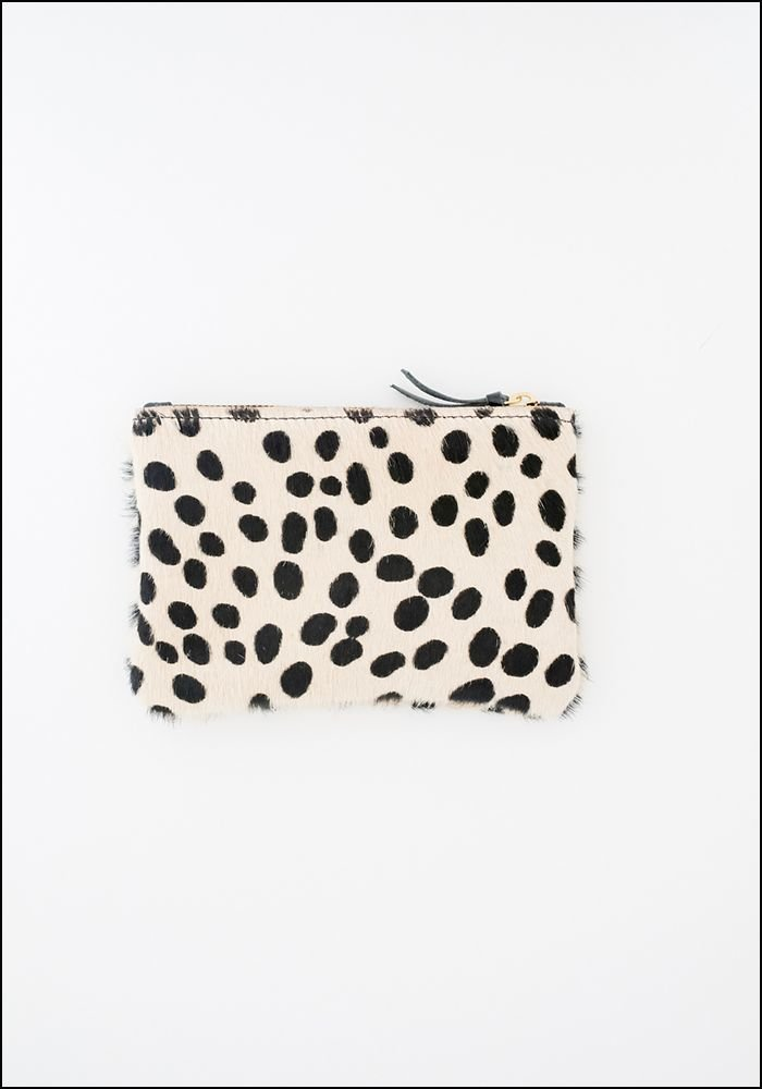 Primecut Spotted Cowhide Zipper Wallet