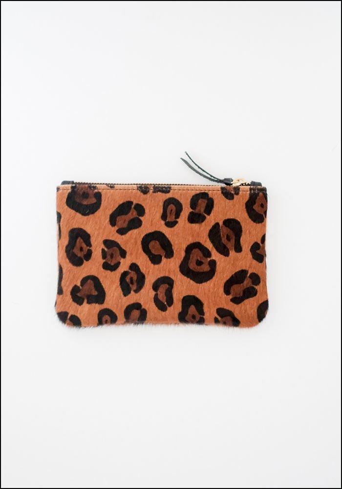 Primecut Leopard Cowhide Zipper Wallet