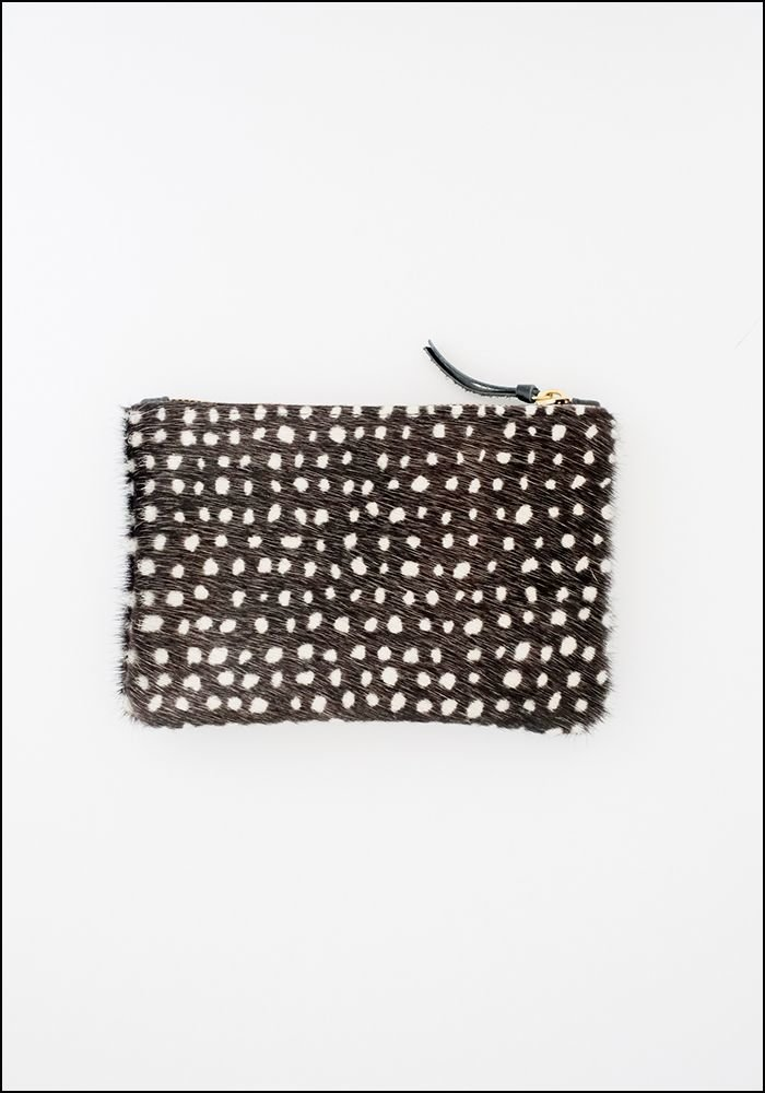 Primecut Dots Cowhide Zipper Wallet