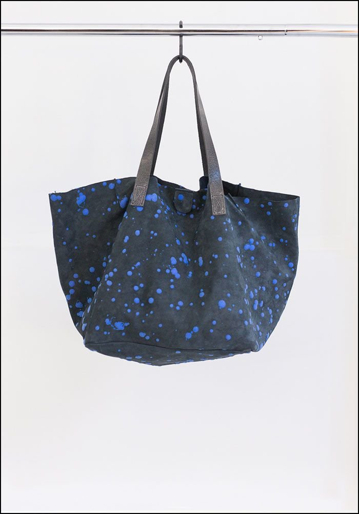 Saisei Leather Splatter Tote