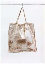 Totem Salvaged Gold Metallic Leather Tote