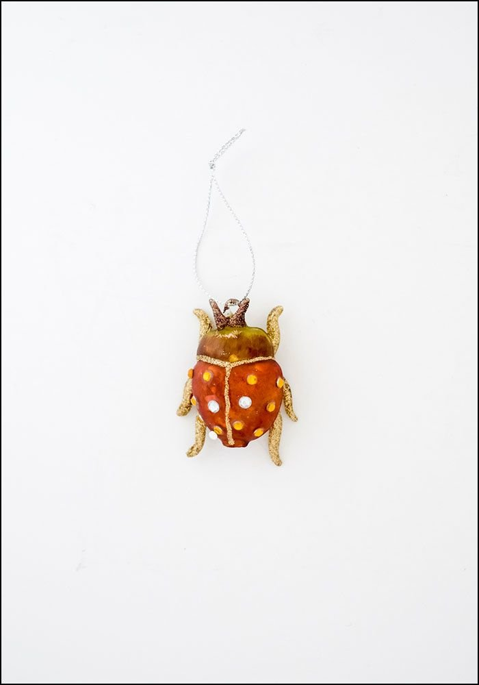 Cody Foster Glass Beetle Ornament