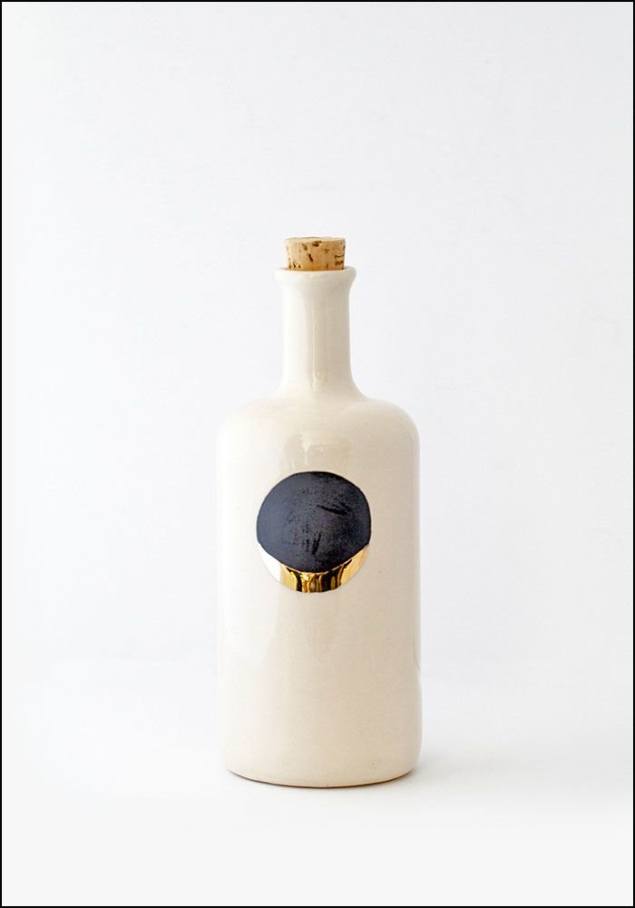 Honeycomb White Waxing Moon Bottle