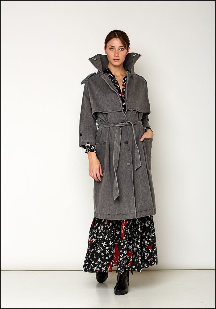 Love Binetti Love Binetti Denim Trench Coat