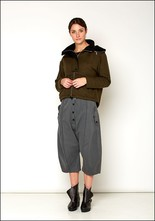 Lurdes Bergada Cropped Fleece Lined Hooded Bomber