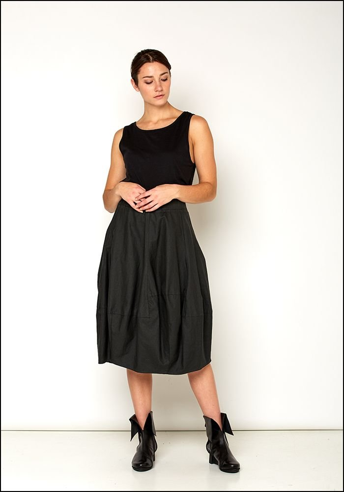 Lurdes Bergada Resin Coated Linen Bubble Skirt
