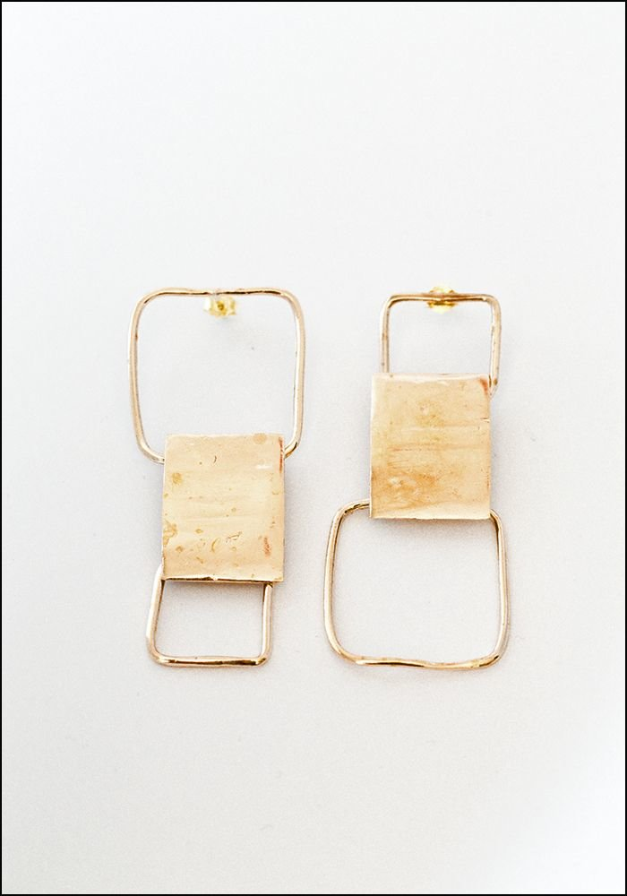 Miriam Nori Alternating Squares Earrings