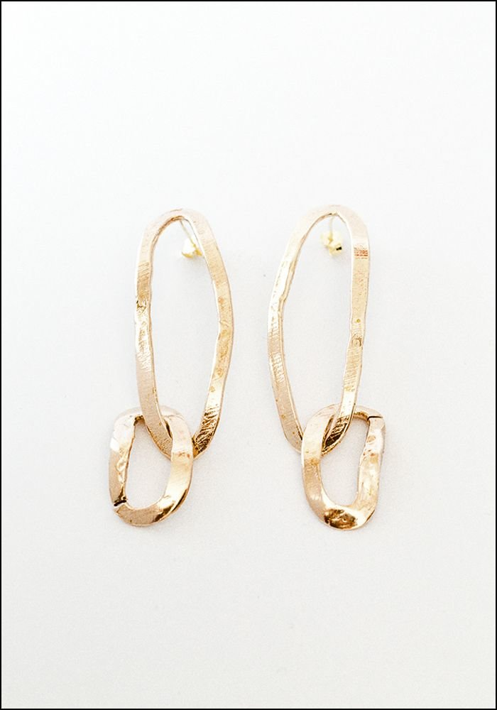 Miriam Nori Chain Oval Earrings