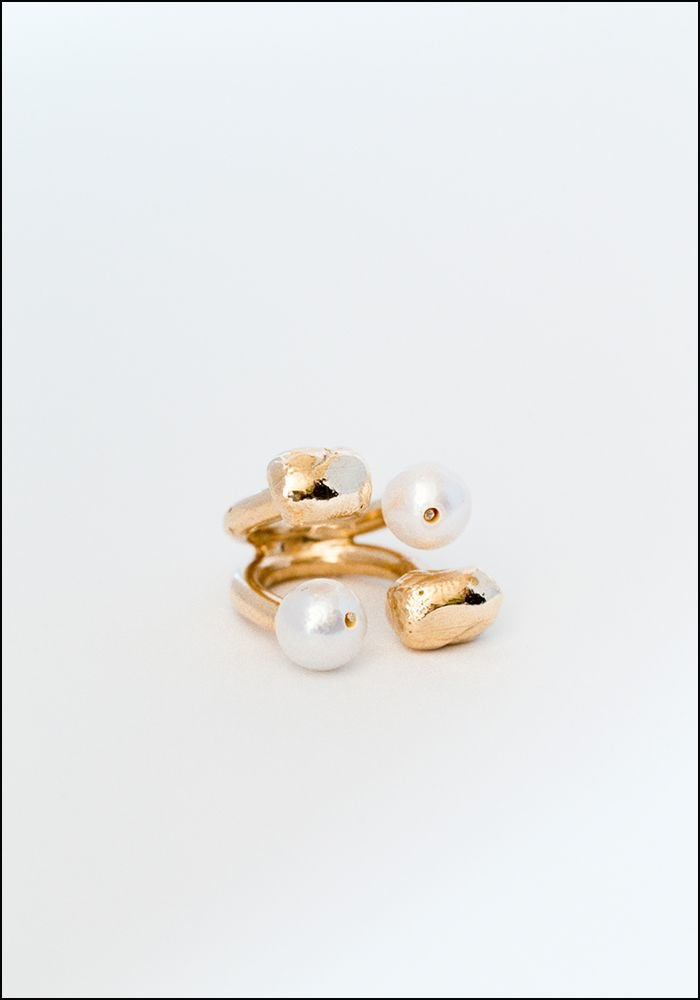 Miriam Nori Pearly Double Stack Ring