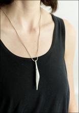 Ariana Boussard Reifel Silver Curve Pendant Necklace
