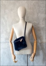 Your Bag of Holding Your Bag Of Holding Navy Shearling Belt Bag