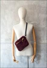Your Bag of Holding Your Bag Of Holding Burgundy Shearling Belt Bag