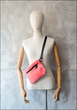 Your Bag of Holding Your Bag Of Holding Hot Pink Shearling Belt Bag