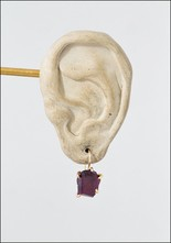 Variance Objects Garnet Hook Earrings