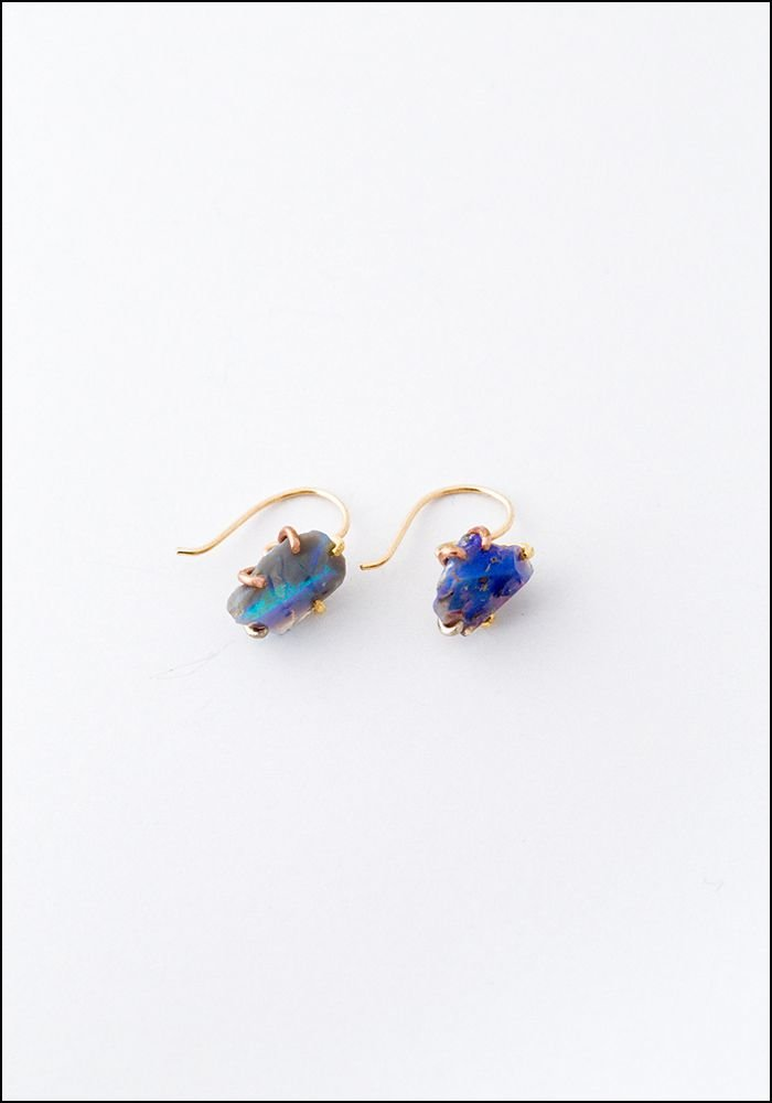 Variance Object Australian Opal Hook Earrings