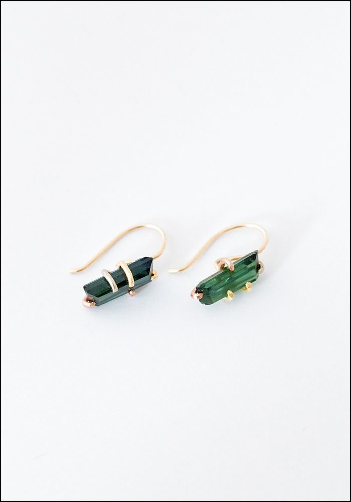 Variance Objects Tourmaline Hook Earrings