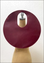 Lupa Bags Lupa Wine Leather Disc Bag