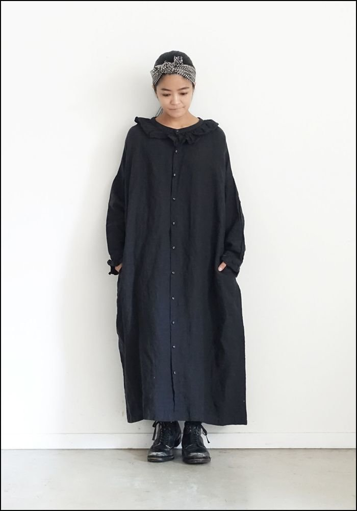 Ichi Antiquities Belgium Linen Dress 100620