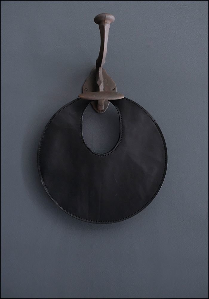 Lupa Bags Lupa Black Leather Disc Bag