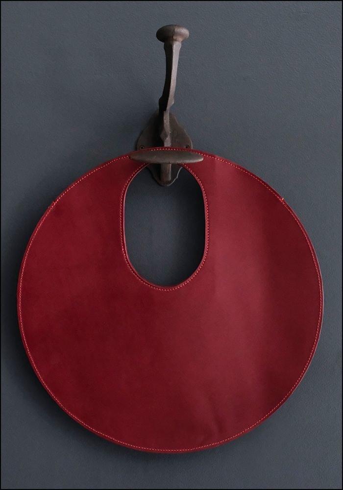 Lupa Bags Lupa Wine Leather Disc Bag